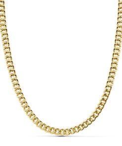Cadena Barbada Oro 18K gruesa 60 cm