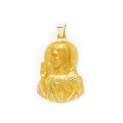 colgante Medalla Corazón de Jesús Oro 18k