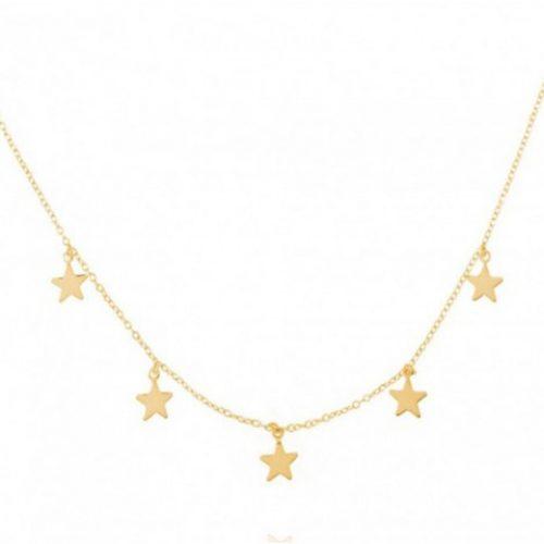 Gargantilla Oro 18 k estrellas