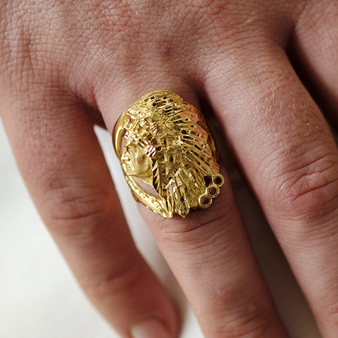 Sello Oro 18k Indio