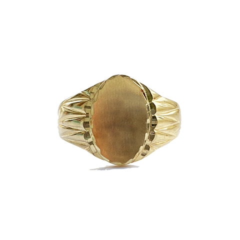 Sello Oro 18k Ovalo