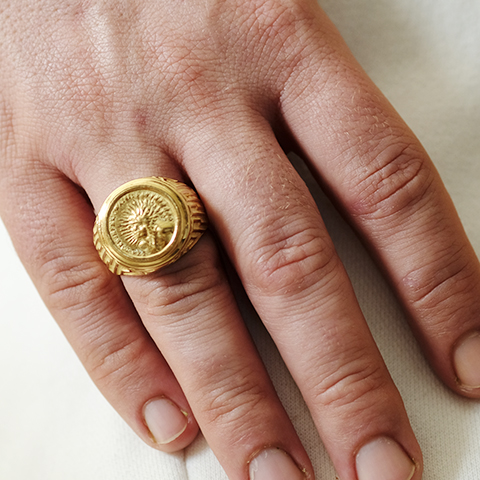 Sello Oro 18k Sol