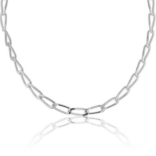 Cadena plata de ley bilbao 50 cm