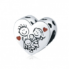 Charm de plata corazón familia